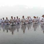 Alborz Kyokushin Academy's Training camps was held on Caspian Sea beach, Chalus – Mazandaran – Iran
