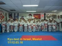 Kyu-test was held in Maalot Israel