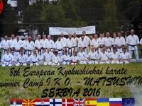 The 8th European Kyokushinkai summer karate camp I.K.O.- Matsushima, which was held in Serbia at Bor lake from 28.07 to 01.08.2016.