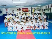 Kyu test was held in Israel on 9~10th  Mrach 2018