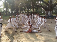 Branch Chief Madhav Dutta of India introduced new Dojo and school class.