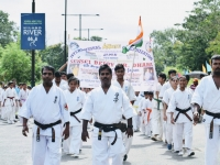 Independence Day Demonstration was held In India