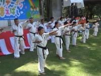 I.K.O.MATSUSHIMA Japan Honbu Matsushima Dojo studens performed a Karate demonstration