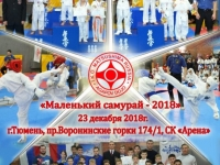 "Children's tournament ""Little Samurai-2018″ was held in Tyumen Russia on 23rd December 2018"