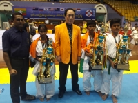 Indian team's (Sensei P.T.Arulmozhi Branch) photos gallery of the 2nd Asian Pacific 2019 in Myanmar