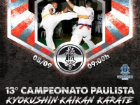 The 13th Sao Paulo IKO Matsushima Kyokushinkaikan Karate 2019 was held in Caraguatatuba / SP.