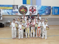 """Two karate competitions were held at sports complex """"Slobozhanskiy"""" (town Slobozhanske of Dnipropetrovsk region Ukraine) on February 21st, 2021. Namely, they are Open IKO Matsushima kyokushinkaikan karate cup """"DNIPRO CUP 2021"""" and Interclub beginners tournament """"White tiger"""". 320 young sportsmen (5-13 years old) participated in the competitions."""