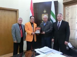 with Mayor of Tripoli