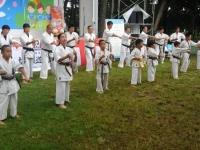 I.K.O.MATSUHIMA総本部、松島道場の道場生が《第43回ホリデーイン前橋》のステージで演武会を行った。