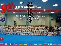 第9回、I.K.O.MATSUSHIMAヨーロッパサマーキャンプがポーランドで開催され13カ国から約160名参加しました。