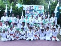 71回独立記念行事として、デモンストレーションがパキスタン支部で実施された。