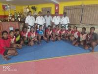 インド支部でカバディ選手とトレーニングが行われました。